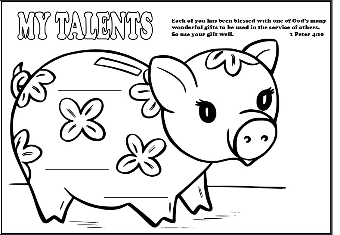 Talents Parable Coloring Page