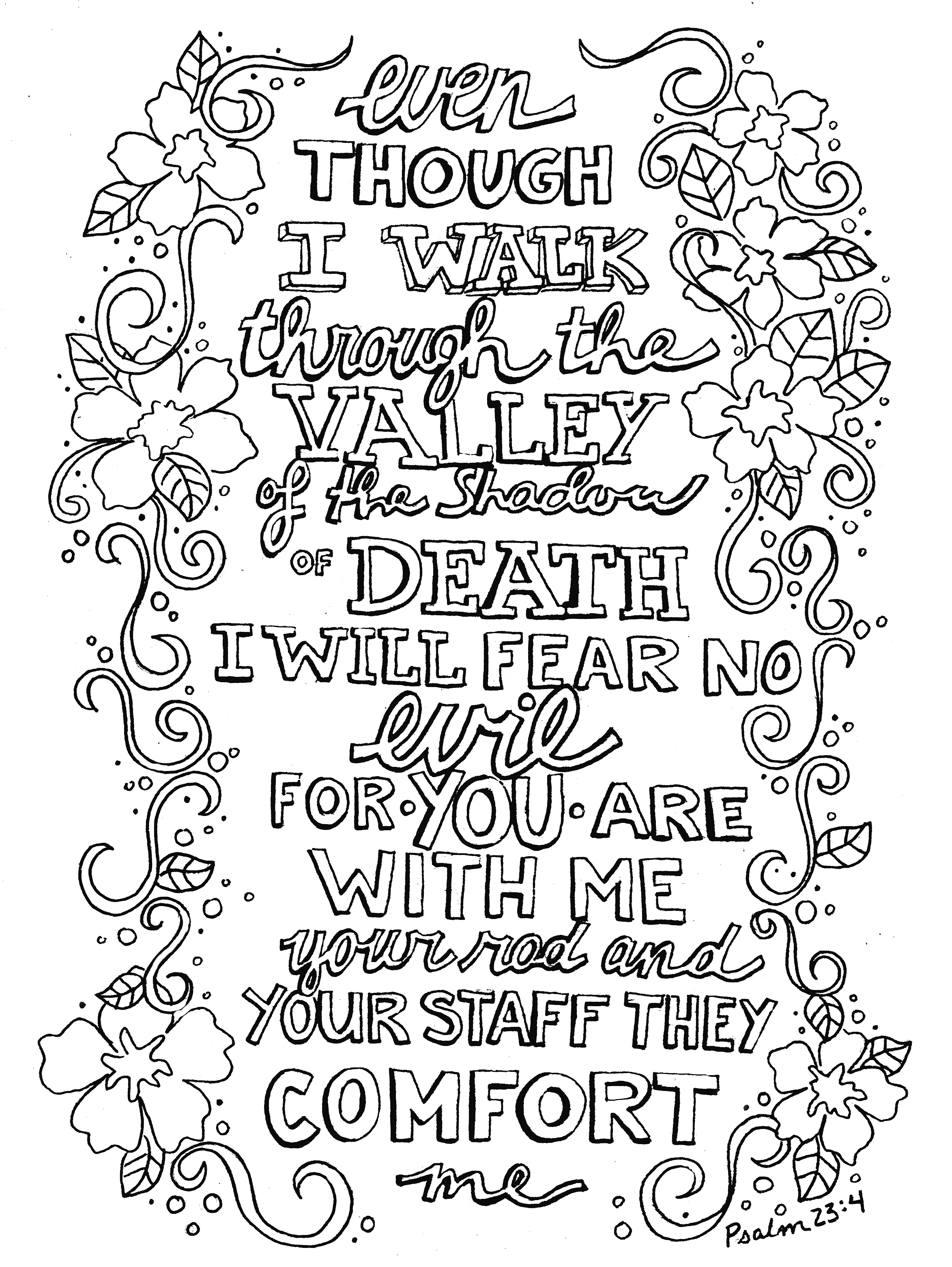 Coloring pages psalm 33 - Psalm 23 Pnghttp Connectible Nz Uploads Psalm 23 Png